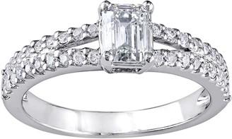 Affinity Diamond Jewelry Emerald-Cut Diamond Ring, Platinum, 1.00 cttw,by Affinity
