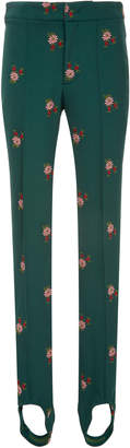 Moncler Genius Floral-Embroidered Stretch-Twill Stirrup Ski Pants