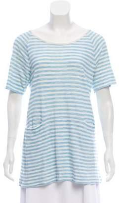 Rag & Bone Stripe Short Sleeve Top