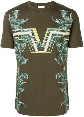 Versace Rib Pattern Tee