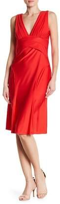 Marina V-Neck Satin Dress