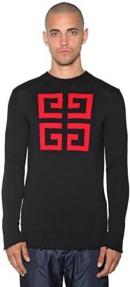 Givenchy 4g Logo Intarsia Cotton Crewneck Sweater
