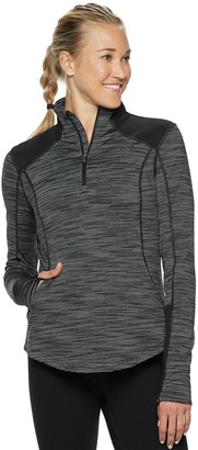 Tek Gear Women's Performance Thumb Hole 1/4-Zip Jacket