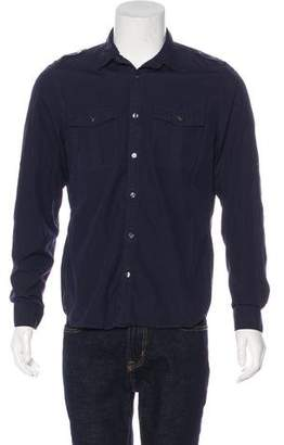 Burberry Military Button-Up Shirt