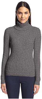Society New York Women's Cable Turtleneck Sweater