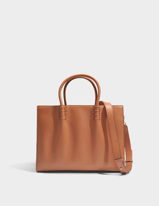Tod's Lady Moc Large Shopping Bag in Orange Calfskin