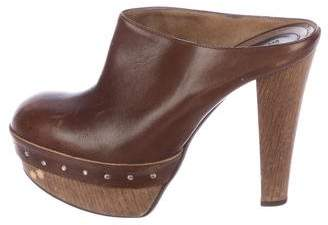 Marni Leather Platform Clogs
