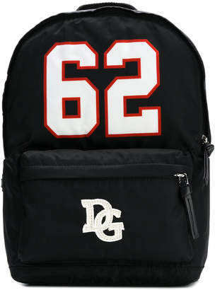 Dolce & Gabbana printed logo-patch backpack