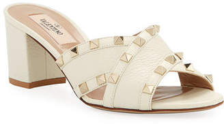 Valentino Rockstud Crisscross Leather Sandals