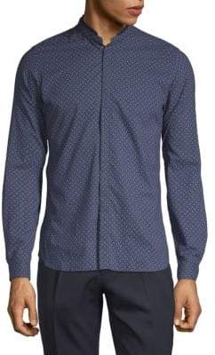 The Kooples Printed Long-Sleeve Button-Down Shirt