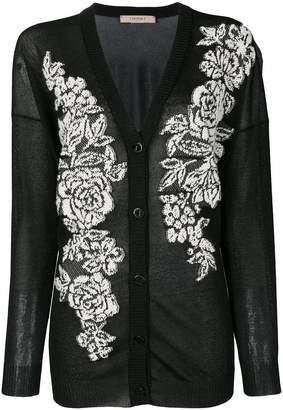Twin-Set floral tapestry cardigan