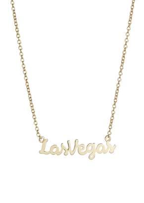 Argentovivo Script Las Vegas Pendant Necklace