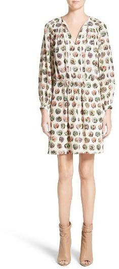 Burberry Women's Burberry Verity Print Mulberry Silk Shirtdress