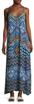 Printed Full Length Dress $169 thestylecure.com