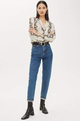 Topshop Rich Blue Mom Jeans