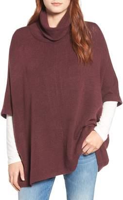 Caslon Cowl Neck Sweater Poncho