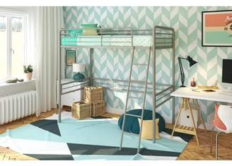 LOFT Dorel DHP Twin Metal Bed, Multiple Colors and Sizes