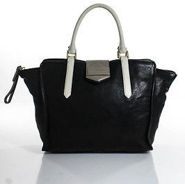 Marc By Marc JacobsMarc By Marc Jacobs Black White Taupe Lamb Leather Totebag Medium