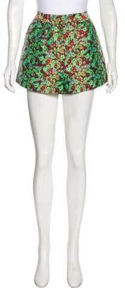 Elizabeth and James Floral Print Mini Shorts