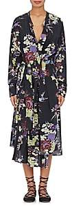 Isabel Marant WOMEN'S IAM FLORAL SILK WRAP DRESS-BLACK SIZE 40 FR