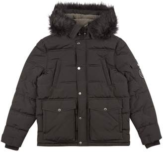 0eeae970e2333 Dorothy Perkins Womens **Burton Black Padded Faux Fur And Borg Lined Hooded  Jacket