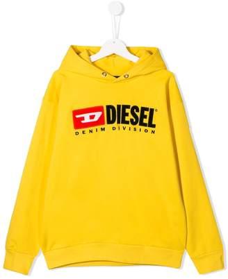 Diesel logo embroidered hoodie