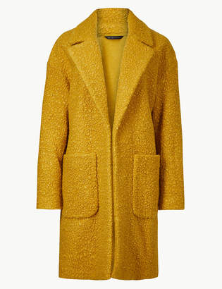 Marks and Spencer Lightweight Textured Open Front Coat