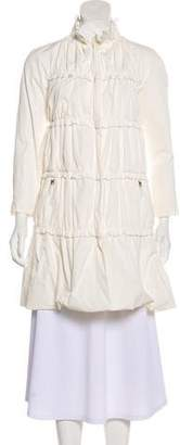 Moncler Gamme Rouge Ruffled Knee-Length Coat w/ Tags