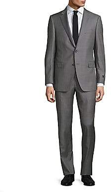 Saks Fifth Avenue Men's COLLECTION BY SAMUELSOHN Classic-Fit Box Plaid Wool Suit