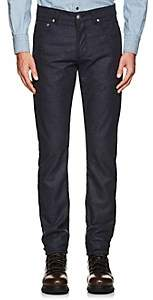 Isaia Men's Wool Flannel Slim Straight Jeans - Navy