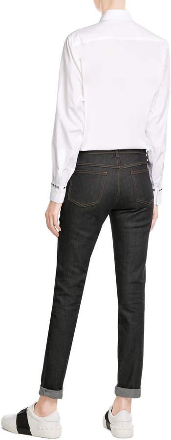 Valentino Cotton Shirt with Rockstuds