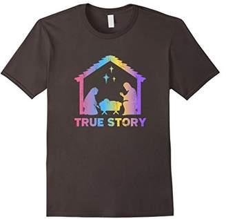 story. Christmas True Nativity Baby Jesus Christian T-shirt
