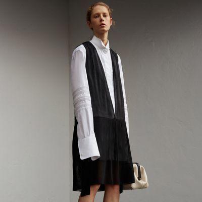 Burberry Burberry Silk and Cotton Dropped-waist Shirt Dress