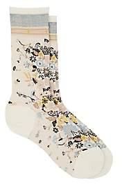 Antipast Women's Happy Flower Wool-Blend Mid-Calf Socks - Ivorybone