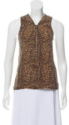 The Kooples Silk Animal Print Top