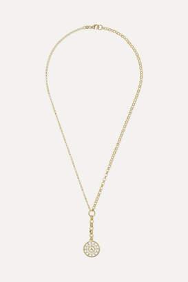 Foundrae - Pyramid 18-karat Gold, Diamond And Enamel Necklace