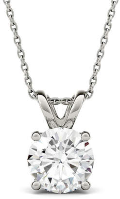 Charles & Colvard Moissanite Solitaire Pendant (3-1/10 ct. t.w. Diamond Equivalent) in 14k White Gold
