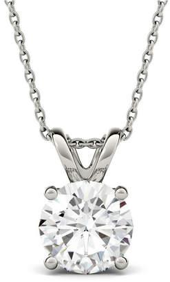 Charles & Colvard Moissanite Solitaire Pendant (3-1/10 ct. t.w. Diamond Equivalent) in 14k White Gold