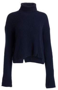 Loro Piana Zante Ribbed Baby Cashmere Turtleneck Sweater