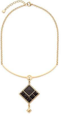 Leonardo Jewels Women necklace with pendant Nuovo stainless steel glass black 42 cm - 016044