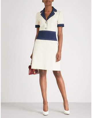Gucci Contrast panels crepe dress
