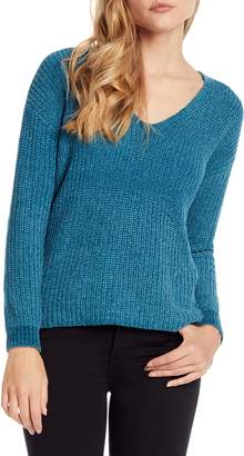 Michael Stars Chenille V-Neck Sweater