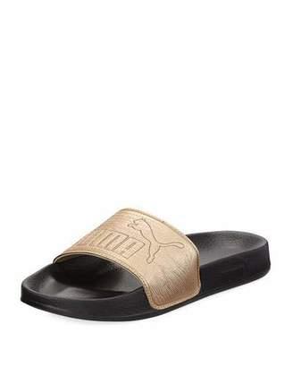 Puma Leadcat Two-Tone Leather Pool Slide Sandal