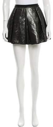 Giles Metallic Mini Skirt black Metallic Mini Skirt