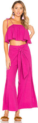 Free People Tropic Babe Set in Fuchsia $148 thestylecure.com