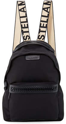Stella McCartney Logo-Web Nylon Backpack
