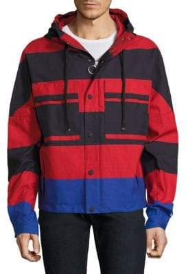 Tommy Hilfiger Colorblock Cropped Parka