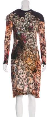 Marios Schwab Printed Midi Dress