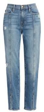 Frame Le Nouveau Straight Slit Jeans