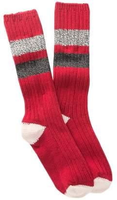 Woolrich Rugby Stripe Crew Socks